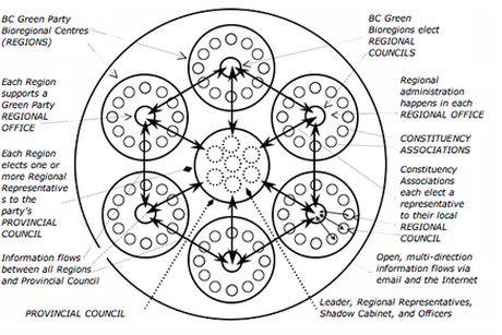 a decentralised poitical party structure