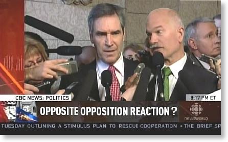 Opposite opposition reaction?