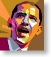 Barak Obama colour poster