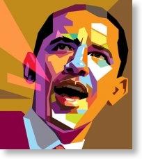 Barak Obama colour poster