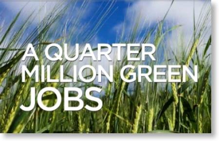 a quarter million green jobs